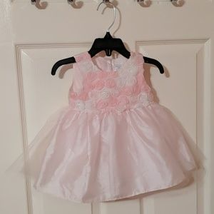 George 6 - 9 Months Pink / White Dress Tulle EUC